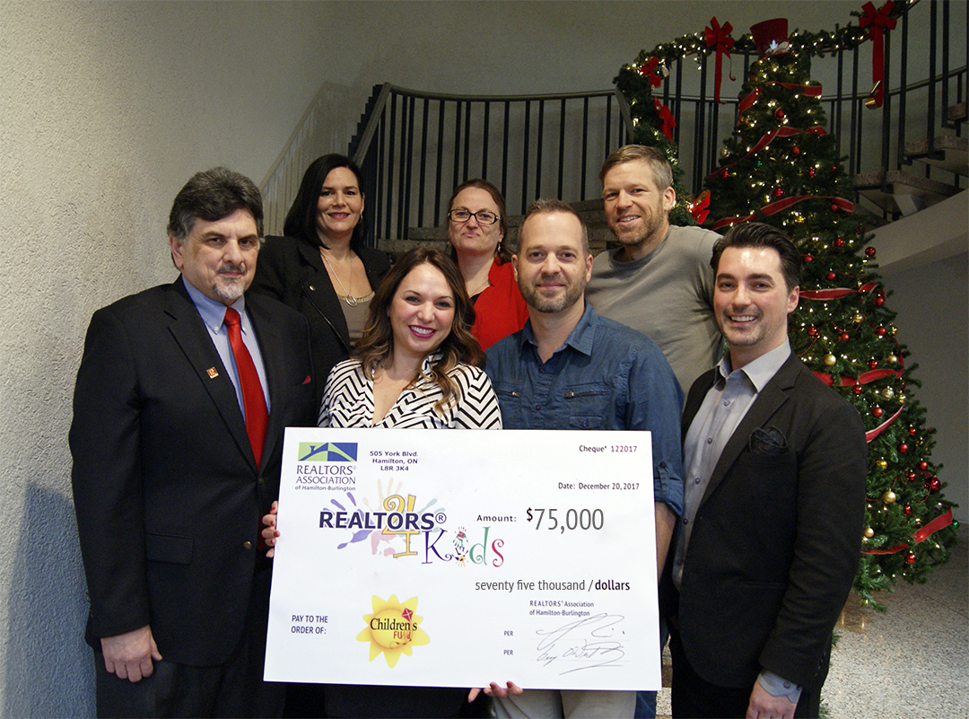 REALTORS4Kids Donation Cheque for Children